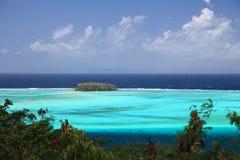 Laguna di Raiatea Fotografie Stock Libere da Diritti