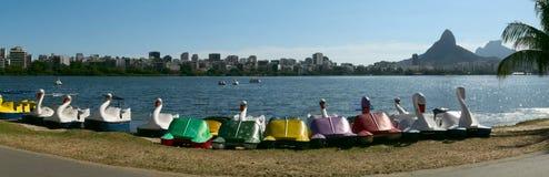 Laguna di Rodrigo de Freitas, Rio de Janeiro, Brasile immagini stock libere da diritti