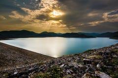 Laguna di tramonto Fotografia Stock Libera da Diritti