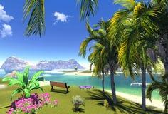 Laguna e banco di paradiso Fotografia Stock