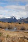 Laguna e montagne di Glenorchy Fotografie Stock Libere da Diritti