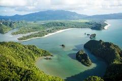 Laguna en el paraíso tropical de la isla Fotos de archivo libres de regalías