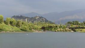 Laguna en la ciudad Fotos de archivo libres de regalías