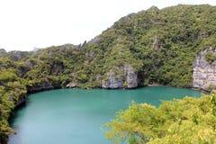 Laguna esmeralda Fotos de archivo libres de regalías