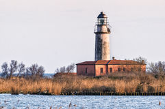 Laguna Ferrara Emilia Romagna del faro del delta del Po Imágenes de archivo libres de regalías