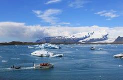Laguna glaciale islandese fotografia stock