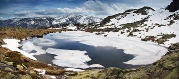 Laguna Grande de Penalara Royalty Free Stock Images