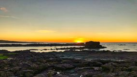 Laguna Hawai di tramonto fotografie stock