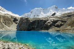 Laguna 69, het Nationale Park van Huascaran - Huaraz - Peru stock fotografie