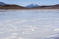 Laguna Honda en ` profundo de la laguna del ` inglés en el reserva Eduardo Avaroa - Bolivia de Lipez Altiplano del sud imagen de archivo libre de regalías