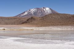 Laguna Honda en ` profundo de la laguna del ` inglés en el reserva Eduardo Avaroa - Bolivia de Lipez Altiplano del sud fotos de archivo