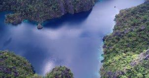 Laguna Kayangan jezioro w Coron Także znać jako czysty, jasny jezioro i Filipiny zbiory