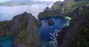 Laguna Kayangan jezioro w Coron Także znać jako czysty, jasny jezioro i Filipiny zdjęcie wideo
