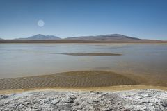 Laguna Kollpa Kkota Collpa Laguna, Sud Lípez Province, Potosí Department Stock Image