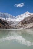 Laguna le Ande Huaraz Perù di Llaca immagini stock libere da diritti