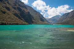 Laguna Llanganuco Royalty Free Stock Photos