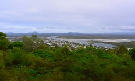 Laguna Lookout offers scenic views over Noosa. In the Sunshine Coast region of Queensland, Australia royalty free stock images