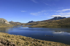 Laguna los Andes Perú de Huaylacancha Fotos de archivo libres de regalías