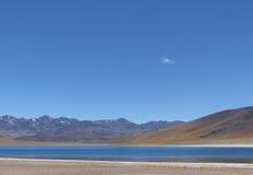 Laguna Miscanti, пустыня Atacama, Чили Стоковые Изображения