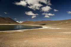 Laguna Miscanti in the High Andes Mountains in the Atacama Deser Stock Image
