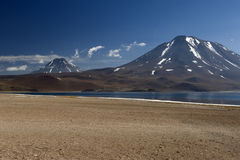 Laguna Miscanti in the High Andes Mountains in the Atacama Deser Stock Photo