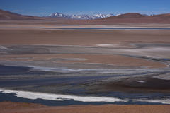 Laguna and mountains at Paso de Jama Royalty Free Stock Photo