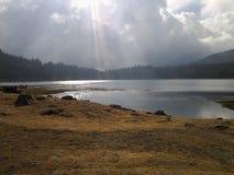 Laguna λιμνοθαλασσών λίμνη του Μέριντα mucubaji στοκ φωτογραφία με δικαίωμα ελεύθερης χρήσης