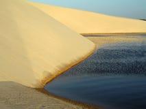 Laguna nella duna Fotografia Stock Libera da Diritti