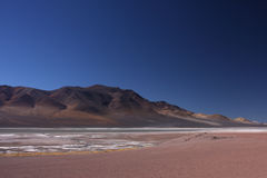 Laguna no altiplano imagens de stock