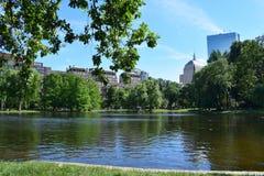 Laguna pública en los campos comunes de Boston Foto de archivo libre de regalías