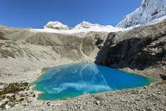Laguna 69, parc national de Huascaran - Huaraz - Pérou Image libre de droits