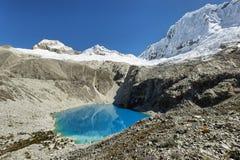 Laguna 69, parco nazionale di Huascaran - Huaraz - Perù Fotografie Stock Libere da Diritti
