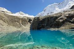 Laguna 69, parco nazionale di Huascaran - Huaraz - Perù Immagini Stock Libere da Diritti