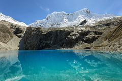 Laguna 69, parco nazionale di Huascaran - Huaraz - Perù Fotografie Stock