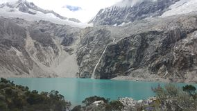 Laguna 69. In the Peruvian Andes stock images