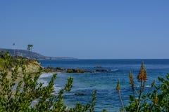 Laguna plaży oceanu spokojnego wybrzeże obraz stock