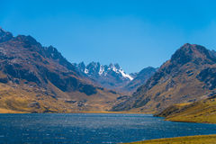Laguna Querococha Immagine Stock