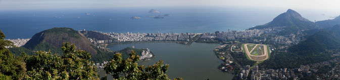 Laguna Rodrigo Freitas in Rio de Janeiro Immagine Stock