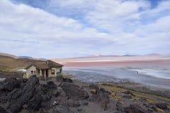 Laguna roja Foto de archivo