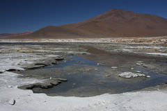Laguna Salada and mountain Stock Photo