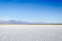 Laguna salina con la montaña San Pedro de Atacama Fotografía de archivo