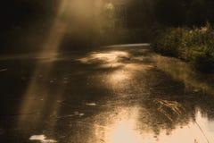 Laguna solar mágica Foto de archivo libre de regalías