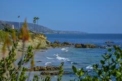 Laguna strand Vreedzame Oceaankust stock foto's