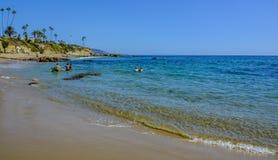 Laguna strand Vreedzame Oceaankust royalty-vrije stock afbeeldingen