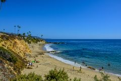 Laguna strand Vreedzame Oceaankust stock fotografie