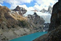 Laguna Sucia en EL Chaltén Photo stock