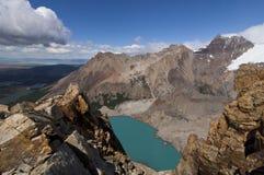 Laguna sucia in los glaciares nationaal park royalty-vrije stock afbeelding