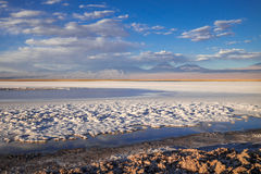 Laguna Tebinquinche τοπίο σε SAN Pedro de Atacama, Χιλή στοκ εικόνες