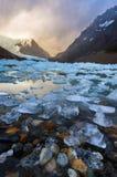 Laguna Torre avec de la glace Photo stock