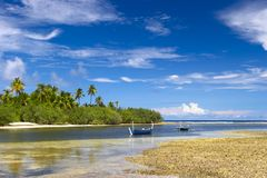Laguna tropicale piacevole immagini stock libere da diritti
